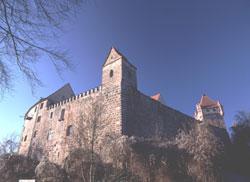 Ostansicht der Burg Abenberg